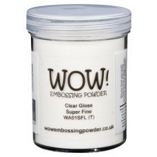 WOW!  Embossing Powder - Clear Gloss - Super Fine 15ml