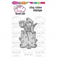 Stampendous! Pink Your Live - Whisper Princess 4x6 Cling Stamp Set