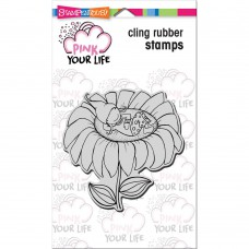 Stampendous! Pink Your Live - Whisper Sunflower  4x6 Cling Stamp Set