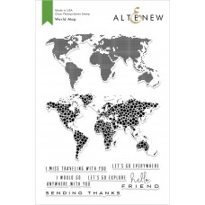 Altenew - World Map - Clear Stamp 6x8