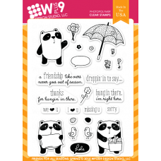 Wplus9 - Friends For All Seasons: Spring - Clear Stamp 4x6