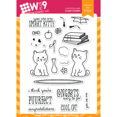 "Wplus9 - Stempelset 4x6"" - Smart Kitty"