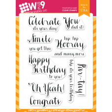 Wplus9 - Strictly Sentiments 5 - Clear Stamp 4x6