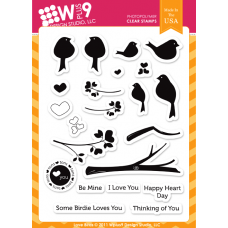 "Wplus9 Design Studio - Stempelset 6x8"" - Love Birds"