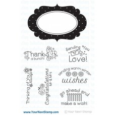 Your Next Stamp - 4x6 Fancy Frames and Sentiments
