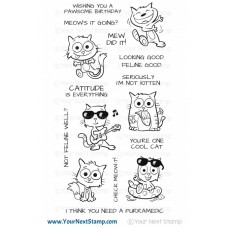 Your Next Stamp - Cool Cats - Clear Stamps 4x8