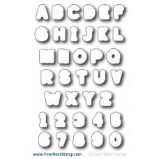 Your Next Stamp - Smiley Happy Alphabet - Stanzen