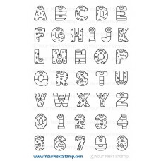 Your Next Stamp - Smiley Happy Alphaet - Clear Stamps 4x6