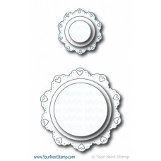 Your Next Stamp Die Set - Heart Doily