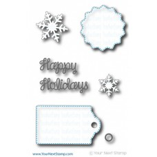 Your Next Stamp Die Set - Winter Fun Tag