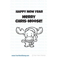 Your Next Stamp Stempelset 3x4 - Merry Chris-moose