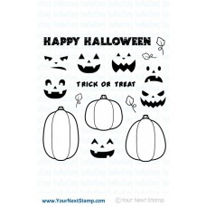 Your Next Stamp Stempelset 4x4 - Halloween Pumpkins