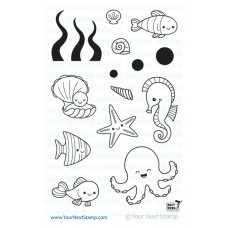 Your Next Stamp Stempelset 4x6 - Sea Creatures Set Two