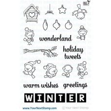Your Next Stamp Stempelset 4x6 - Word Critters - Winter Birds