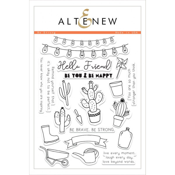 Altenew - Be Strong - Clear Stamps 6x8