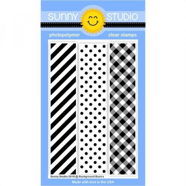 Sunny Studio - Background Basics - Clear Stamps 4x6