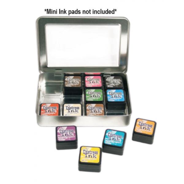 Ranger mini distress ink storage tin case