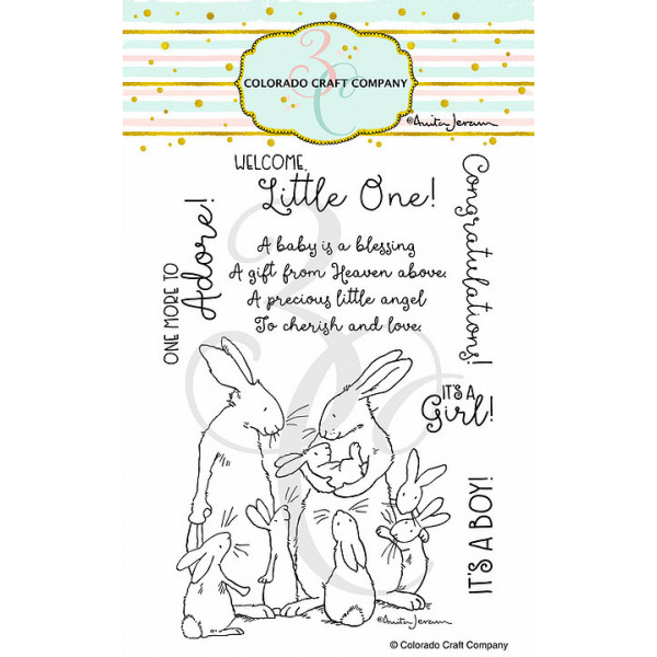 Colorado Craft Company - New Baby - Clear Stamp Set 4x6