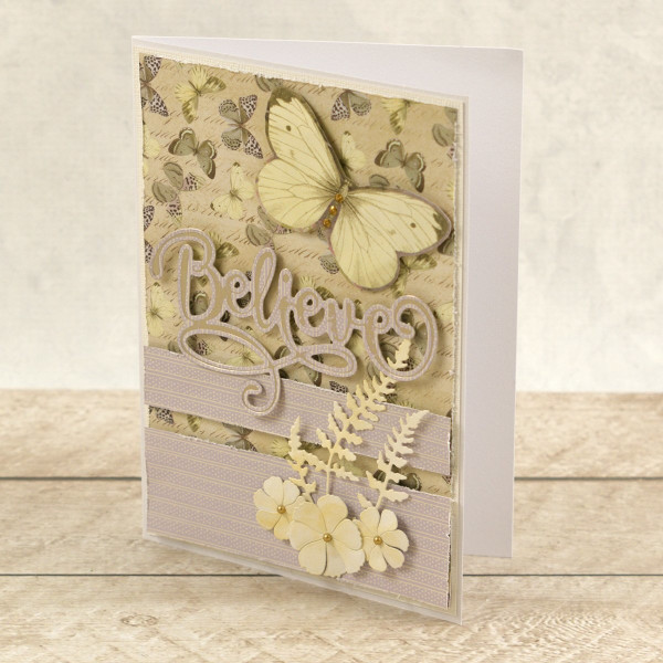 Couture Creations - Cut, Foil & Emboss Die - Believe