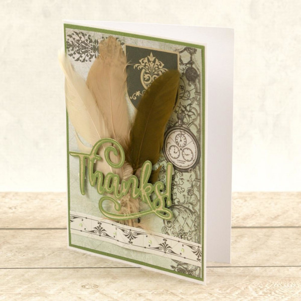 Couture Creations - Cut, Foil & Emboss Die - Thanks