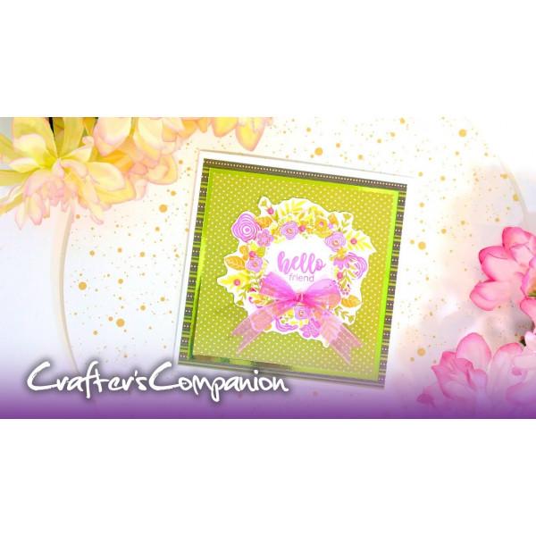 Crafters Companion - Stempelset - Frühlingskranz