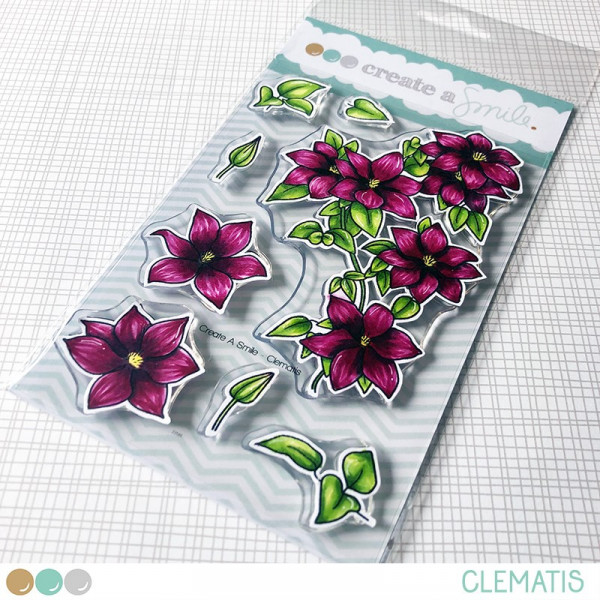 Create A Smile - Clemantis - Clear Stamps 4x6