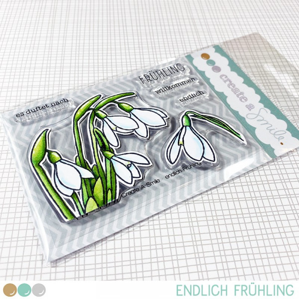 Create A Smile - Endlich Frühling - Clear Stamps 3x4