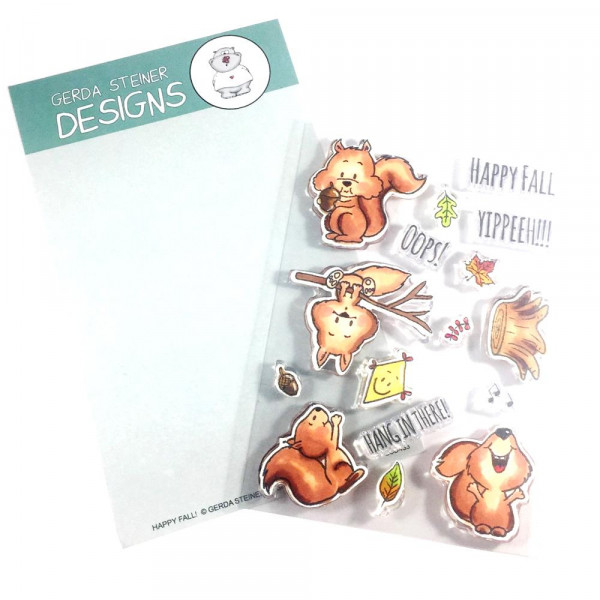 Gerda Steiner Designs - Happy Fall - Clear Stamps 4x6
