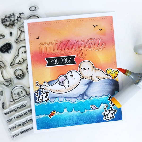 Heffy Doodle - Bold Banner Sentiment - Clear Stamps 4x6