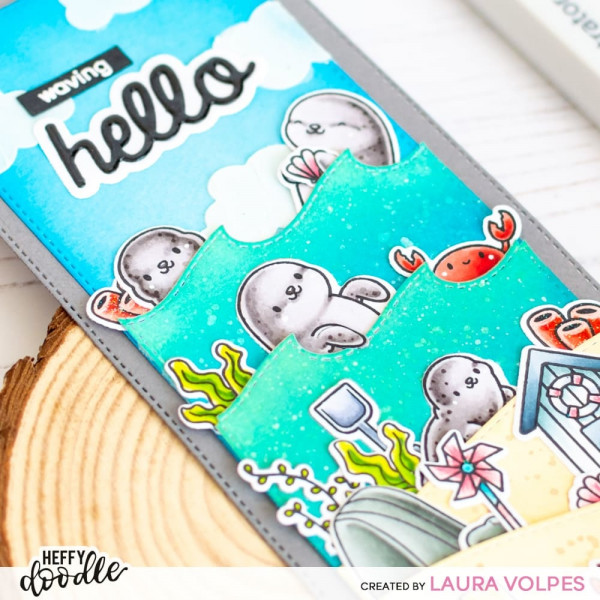 Heffy Doodle - Sealy Friends - Clear Stamps 4x6