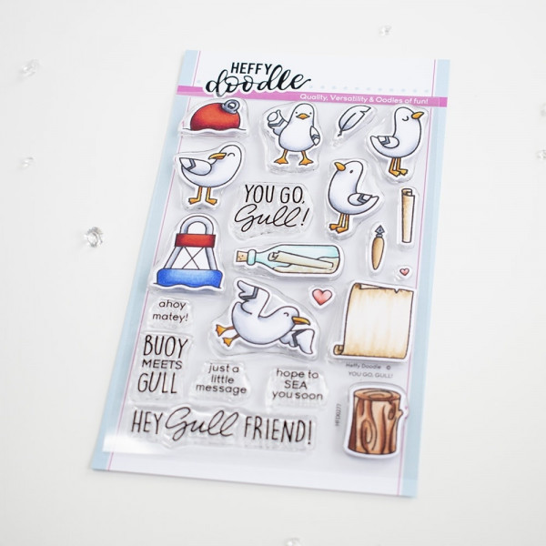 Heffy Doodle - You Go, Gul - Clear Stamps 4x6