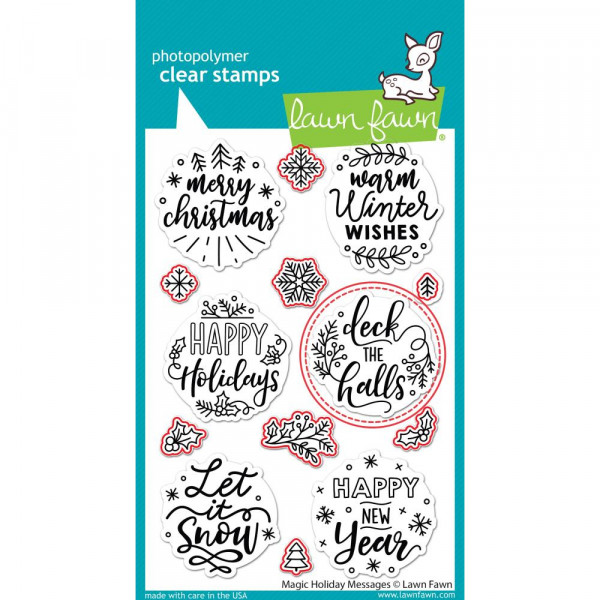 Lawn Cuts Custom Craft Die-Magic Holiday Messages