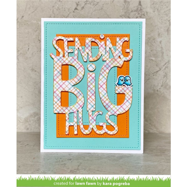 Lawn Fawn - Giant Sending Big Hugs - Stand Alone Stanze