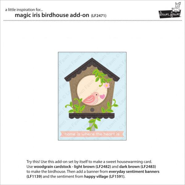 Lawn Fawn - Magic Iris Birdhouse Add-on - Stand alone Stanze