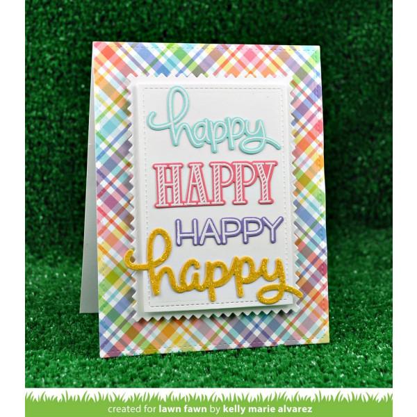 Lawn Fawn - scripty happy - Stanzen