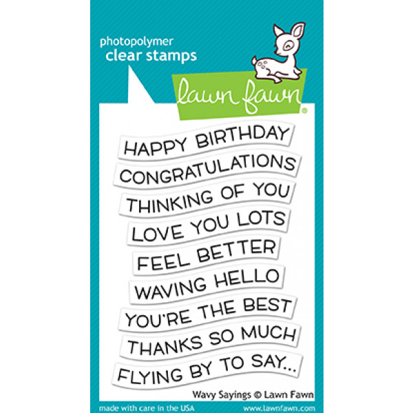 Lawn Fawn - Wavy Sayings - Clear Stamp 3x4