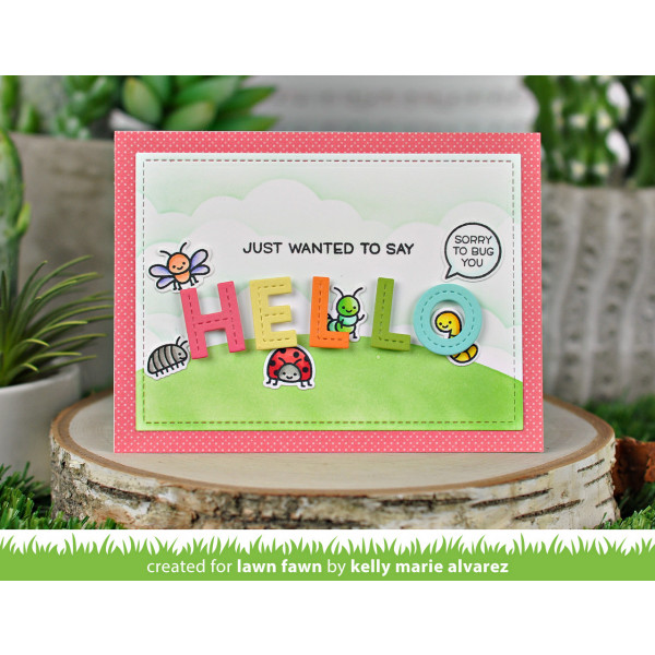 Lawn Fawn - oliver's stitched ABCs - Stanzen