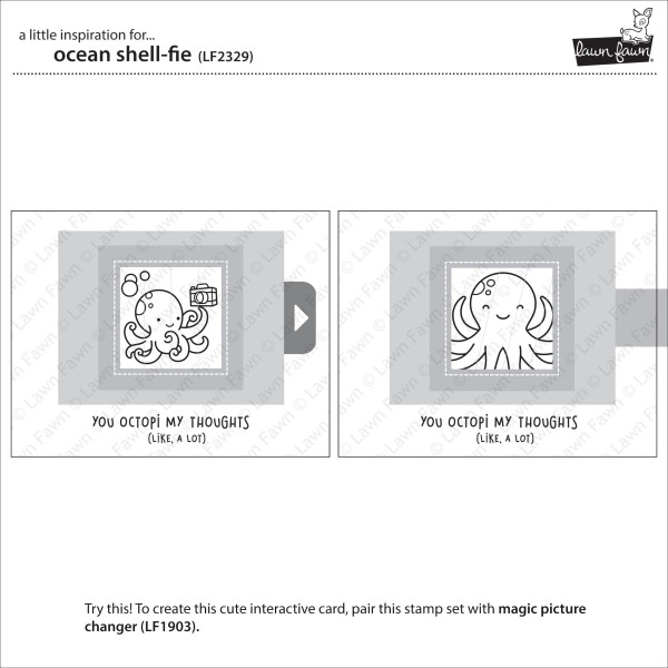 Lawn Fawn - ocean shell-fie - Clear Stamp 4x6