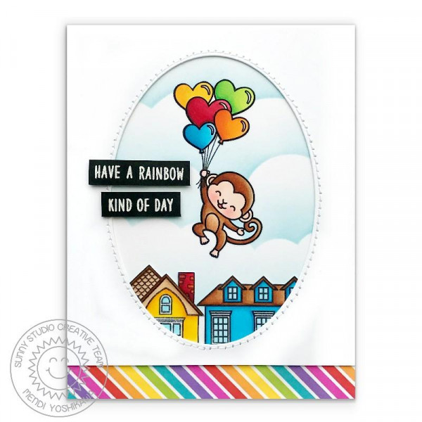 Sunny Studio - Love Monkey - Clear Stamps 4x6