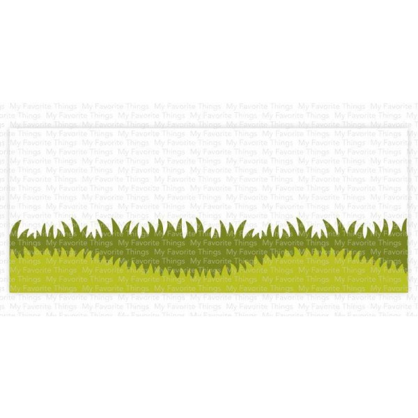 My Favorite Things - Grassy Edges - Slimline Schablone
