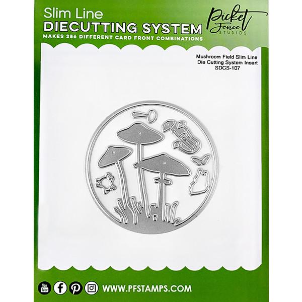 Picket Fence Studios - Slim Line Die Cutting System Insert 4x4 Inch Mushroom Field