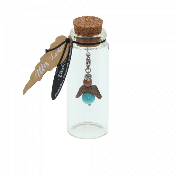 Eydl Wood Jewelry - Schutzengel - Türkis