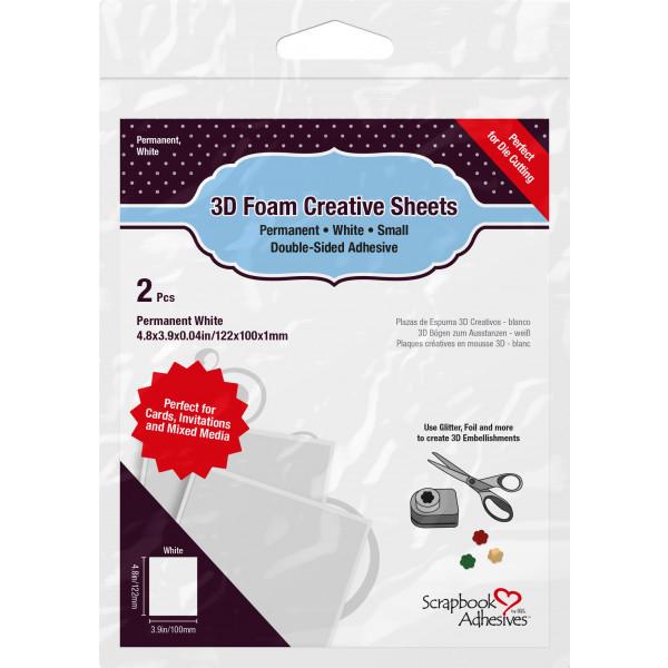 Scrapbook Adhesives 3D Foam Creative Sheets Small Weiss