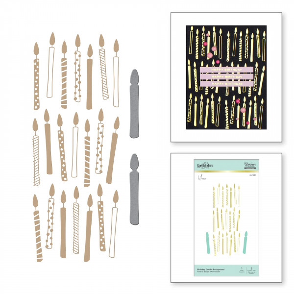 Spellbinders - Birthday Candle Background - Hot Foil Plate