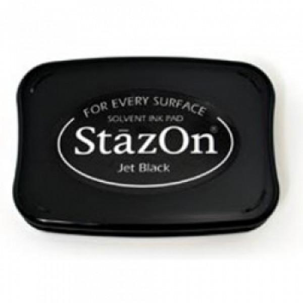 StazOn - Jet Black - Stempelkissen schwarz für glatte Oberflächen
