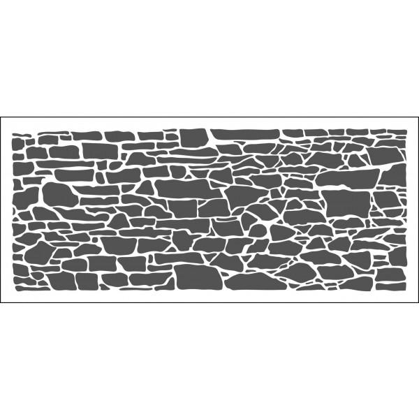 The Crafter's Workshop Rock Wall Slimline Stencil