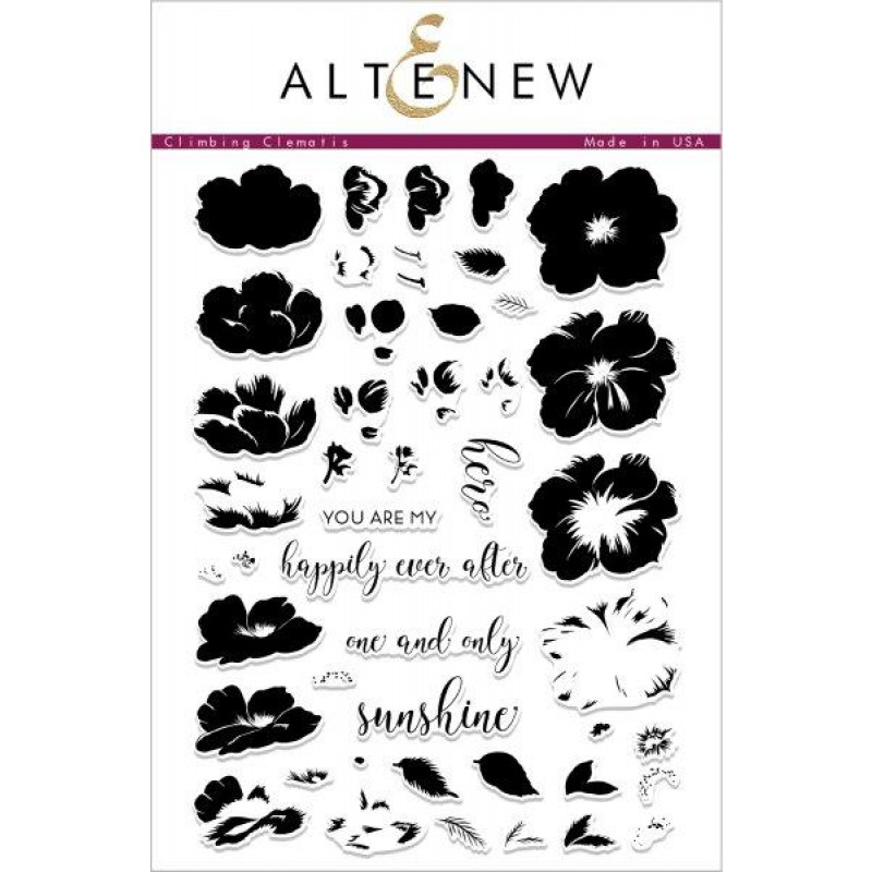 Altenew -  Climbing Clematis - Clear Stamps 6x8