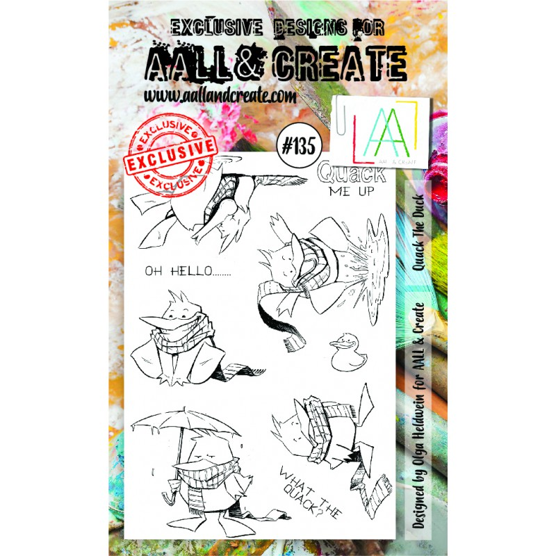 AALL and Create - A6 Stamps - Quack The Duck