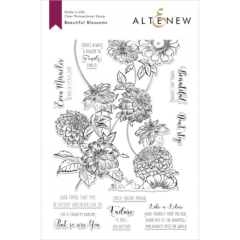 Altenew - Beautiful Blossoms  - Clear Stamp 6x8