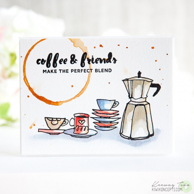 Altenew - Coffee Ring - Clear Stamps 2x3